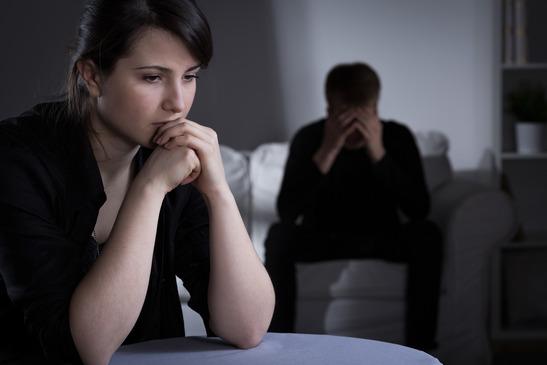 A man and women upset