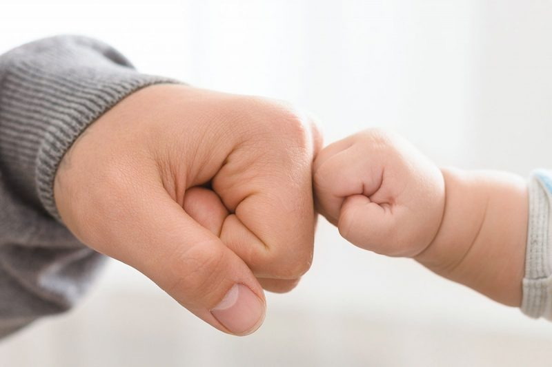 Father And Baby Hands