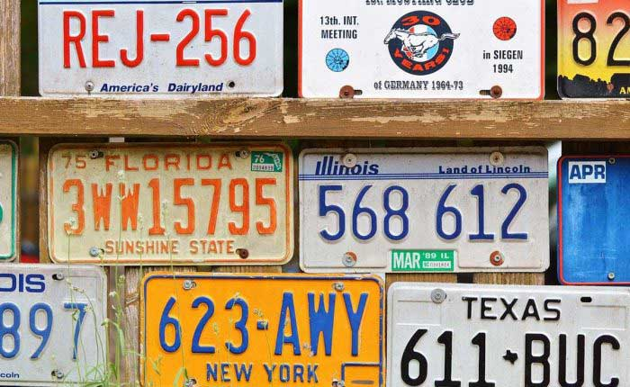 License Plates 700x430
