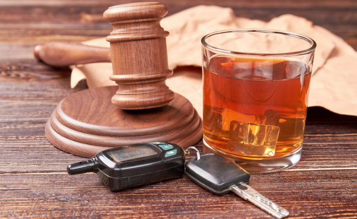 Drunk Driving Concept.